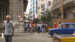 HD2009-4-3-6 Havana traffic Stock Video Footage