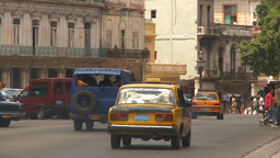 HD2009-4-3-12 Havana traffic Stock Video Footage