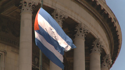 HD2009-4-3-14 flag capitol Stock Video Footage