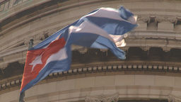 HD2009-4-3-28 Havana flag capitol Stock Video Footage