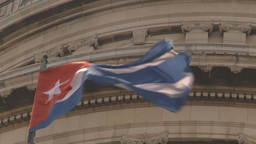 HD2009-4-3-28 Havana flag capitol Stock Video Footage