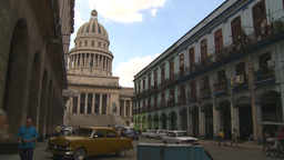 HD2009-4-3-62 Havana traffic capitol Stock Video Footage