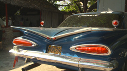 HD2009-4-4-1 Cuba old car Stock Video Footage