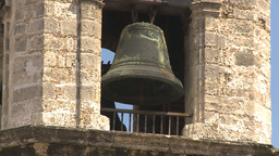 HD2009-4-4-19 Havana Cathedral square bell Stock Video Footage