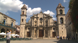 HD2009-4-4-21 Havana Cathedral square Stock Video Footage