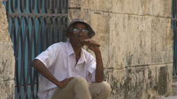 HD2009-4-4-27 Havana old man cigar Footage