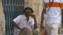 HD2009-4-4-27 Havana old man cigar Stock Video Footage