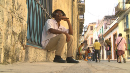 HD2009-4-4-29 Havana old man cigar Footage