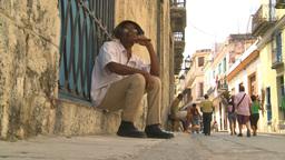 HD2009-4-4-29 Havana old man cigar Stock Video Footage