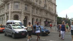 HD2009-4-4-69 Havana street Stock Video Footage
