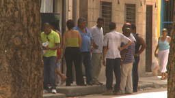 HD2009-4-5-11 Havana people Footage