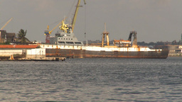 HD2009-4-5-29 Havana cuban fishing trawler Stock Video Footage