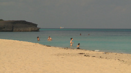 HD2009-4-6-5 Cuba beach Stock Video Footage