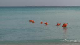 HD2009-4-6-7 Cuba beach safety buoys Stock Video Footage