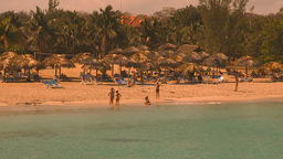 HD2009-4-6-21 Cuba beach Stock Video Footage