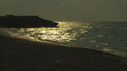 HD2009-4-6-31 Cuba beach sunset Stock Video Footage