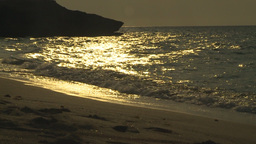 HD2009-4-6-44 Cuba Beach Sunset Slomo stock footage