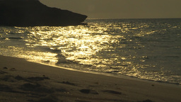 HD2009-4-6-44 Cuba beach sunset slomo Stock Video Footage