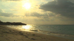 HD2009-4-6-46 Cuba beach sunset Stock Video Footage