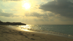HD2009-4-6-46 Cuba beach sunset Stock Video Footage