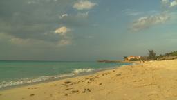 HD2009-4-6-48 Cuba beach sunset Stock Video Footage