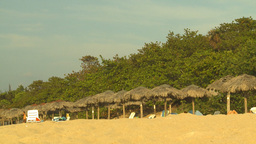 HD2009-4-6-52 Cuba beach sunset Stock Video Footage