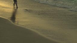 HD2009-4-6-60 Cuba beach sunset woman on beach Stock Video Footage