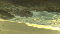 HD2009-4-6-62 Cuba beach sunset woman on beach Stock Video Footage