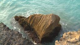 HD2009-4-6-65 Cuba beach water on rocks Footage
