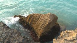 HD2009-4-6-65 Cuba beach water on rocks Stock Video Footage