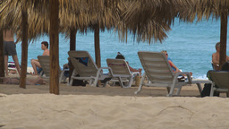 HD2009-4-7-10 Cuba beach Stock Video Footage