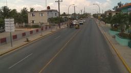 HD2009-4-7-20 Cuba highway aboard bus Stock Video Footage