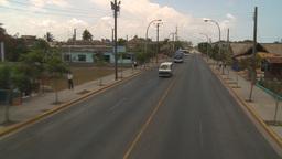 HD2009-4-7-20 Cuba highway aboard bus Stock Video Footage