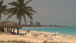 HD2009-4-7-26 Cuba beach Stock Video Footage