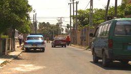 HD2009-4-7-32 Cuba old car repair street and announc Stock Video Footage