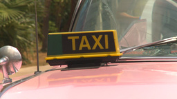HD2009-4-7-38 Cuba pink caddy taxi Footage