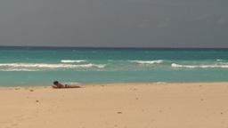HD2009-4-7-40 Cuba beach Stock Video Footage