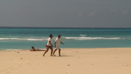 HD2009-4-7-40 Cuba beach Stock Video Footage