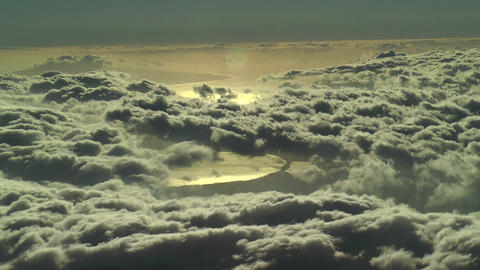 over the clouds time lapse Stock Video Footage