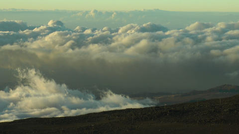 time lapse clouds view from haleakala crater,maui  Footage