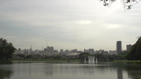 008 Sao Paulo , Ibirapuera park , waterfountain ,  Footage