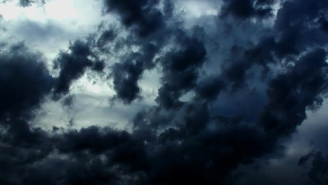 Dramatic Storm Dark Epic Clouds stock footage