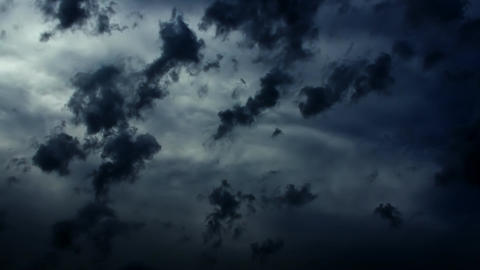 Dramatic Storm Dark Epic Clouds Stock Video Footage