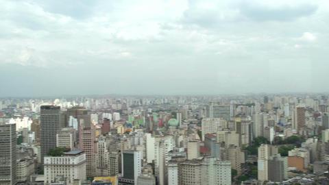 033 Sao Paulo , skyline , panshot Footage