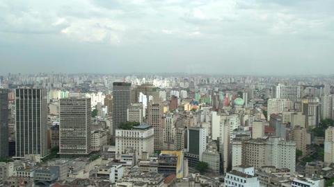 034 Sao Paulo , skyline , panshot Footage