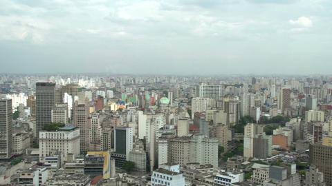 036 Sao Paulo , skyline , panshot Stock Video Footage