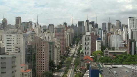 037 Sao Paulo , skyline Footage