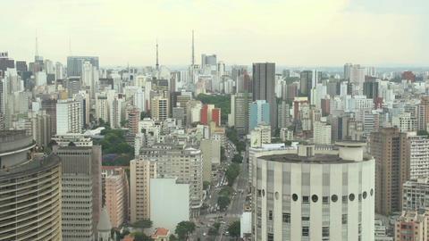 041 Sao Paulo , skyline Footage