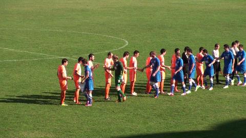 Football Soccer Match Starting (30 Sec ) stock footage