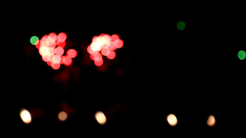 Colorful firework bokeh Footage